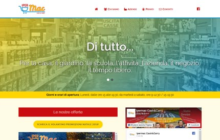 Sito per Iper Mac Cash & Carry, in collaborazione con Chiarotondo
